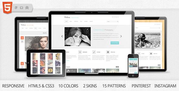 Moderna Responsive HTML5 Template Creative