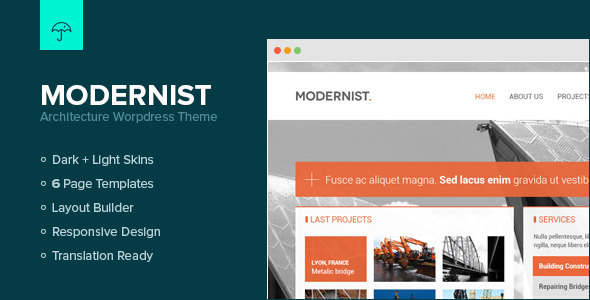 Modernist - Architecture&Engineer Wordpress Theme Creative