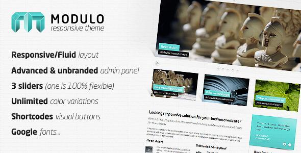 Modulo - Responsive premium theme WordPress Corporate