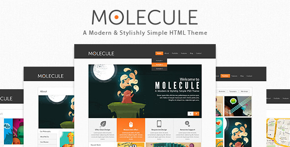 Molecule business , Corporate and Blog Html5 Templ Template