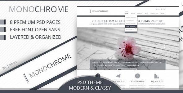 Monochrome - Creative PSD Template Creative