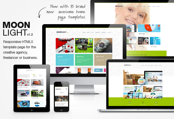 MoonLight > Responsive HTML Template Creative