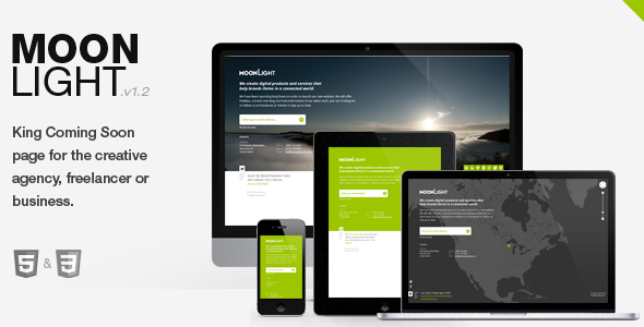 MoonLight > Responsive coming soon Page Template Specialty Page