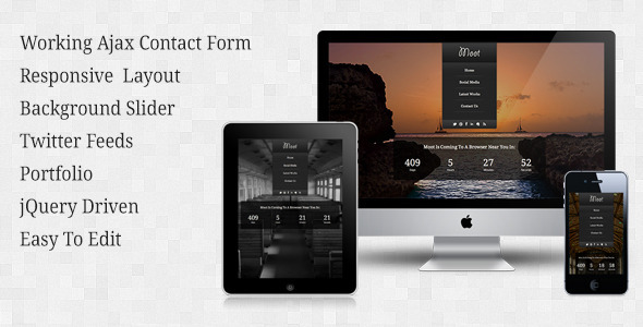 Moot - Responsive Under Construction Theme Template Specialty Page