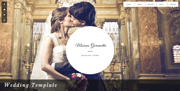 Moreno - Wedding Template PSD Entertainment