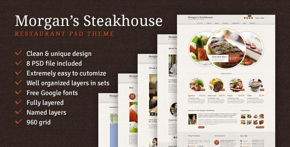 Morgan's Steakhouse PSD Retail