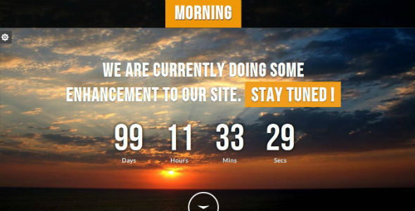 Morning - Responsive Underconstruction Template Specialty Page