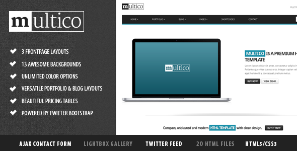 Multico - Premium Multipurpose Responsive Template Corporate