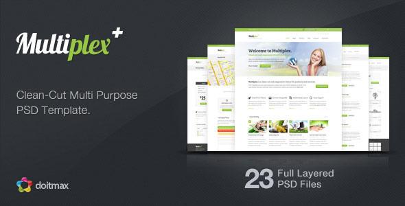 Multiplex - A Clean-Cut Multi Purpose PSD Template Corporate