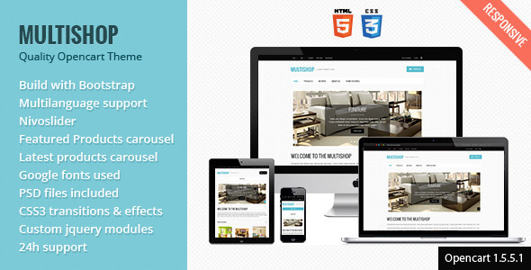 Multishop - Quality Responsive OpenCart Template