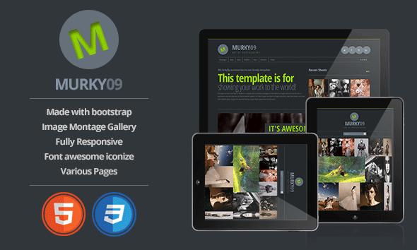 Murky09 - Portfolio and Photography Theme Template Creative