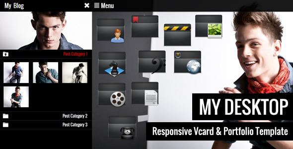 My Desktop - Responsive Vcard & Portfolio Template Personal