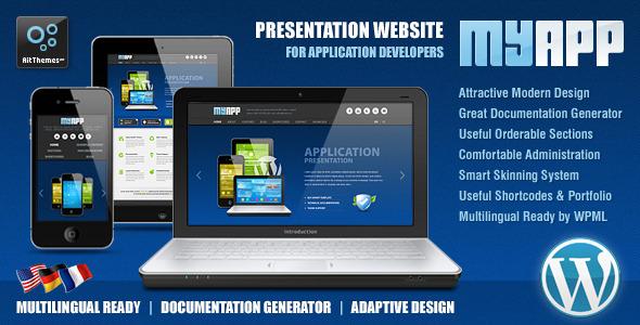 MyApp Adaptive WP Theme for App Developers WordPress Technology