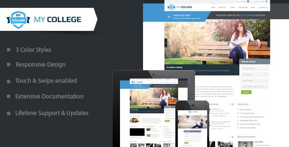 My College - Premium Education WordPress Theme