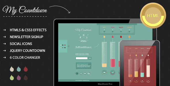 MyCountdown - Coming Soon page Template Specialty Page