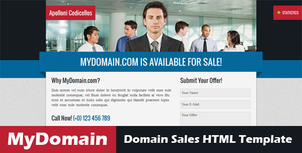 MyDomain - Domain for sale HTML5 template Miscellaneous Specialty Page