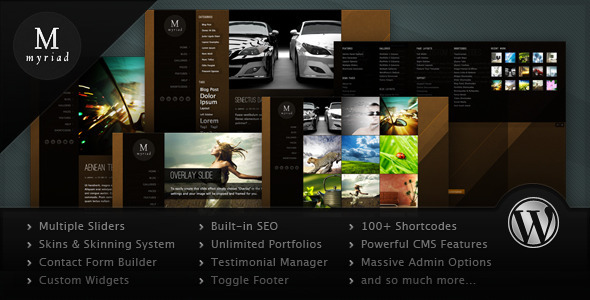 Myriad - Powerful Professional WordPress Theme Corporate