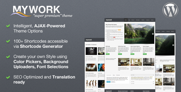 "Mywork - ""Super Premium"" Commercial Theme WordPress"