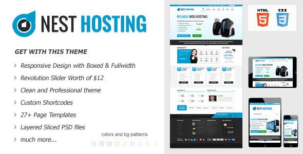 NEST HOSTING - Responsive Hosting Theme Template Technology