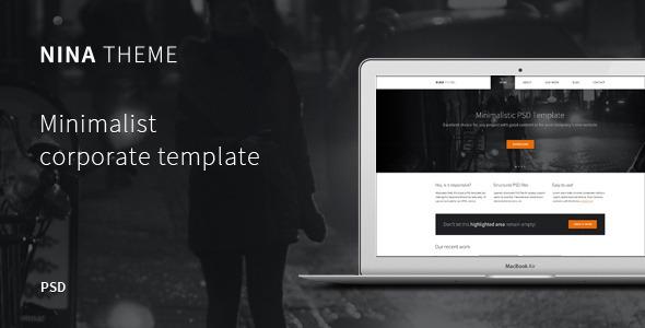 NINA – Minimalist PSD Theme Corporate
