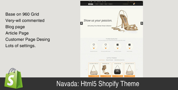 Navada html-5 shopify theme Fashion