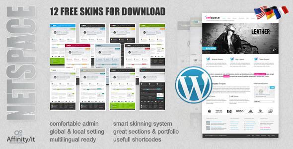 Netspace - Premium Wordpress Theme + Free Skins Corporate