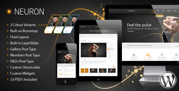Neuron Responsive WordPress Theme Creative