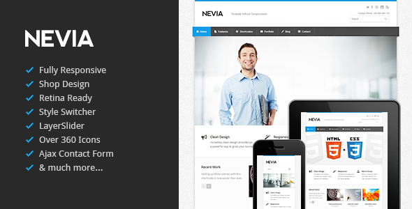 Nevia - Responsive HTML5 Template Corporate