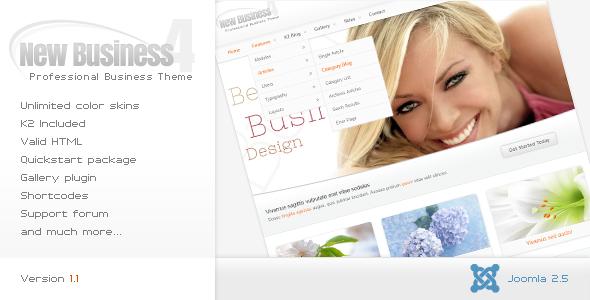 New Business 4 - Business Joomla Template Corporate