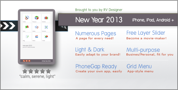 New Year 2013 | Responsive Mobile Template Mobile