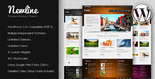 Newline Premium Business WordPress Theme Corporate