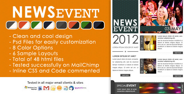 News Event Newsletter -  Html and Psd files EmailTemplates Email Template
