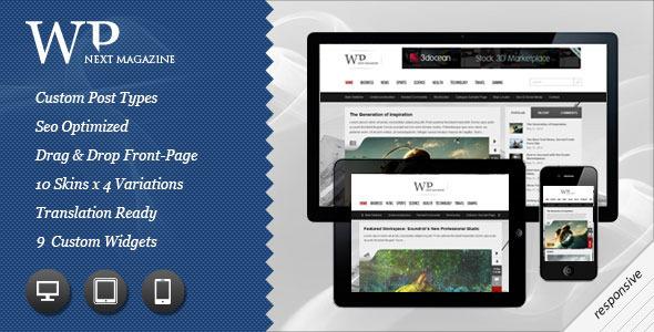 Next Responsive WP Magazine WordPress Blog/Magazine