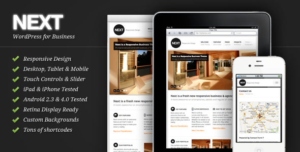 Next - Responsive Business WordPress Theme Corporate