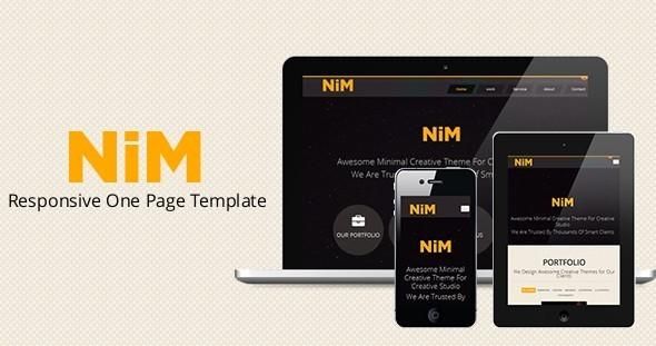 NiM- Responsive One Page Creative Template Creative