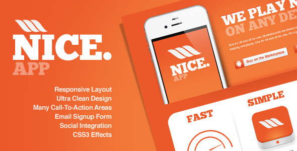Nice app - Responsive Landing Page