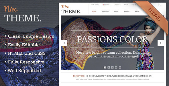 Nicetheme : Unique Multipurpose Html Template Creative