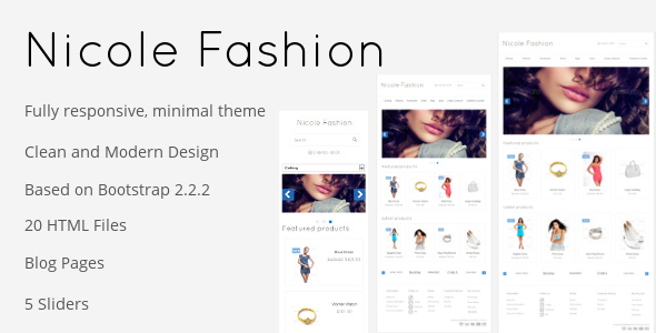 Nicole Fashion Responsive eCommerce Template Retail
