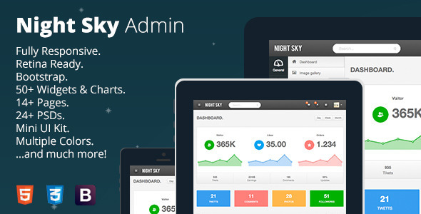 Night Sky - Ultimate Responsive Bootstrap Admin Template