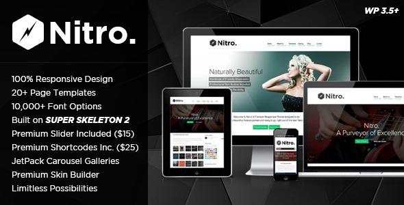 Nitro: Responsive MultiPurpose Theme WordPress Corporate
