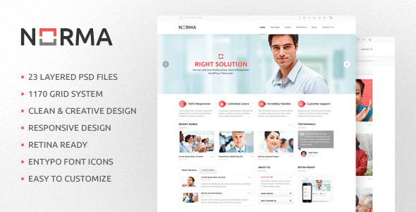 Norma - Multipurpose PSD Template Corporate