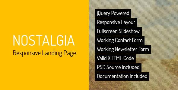 Nostalgia - Responsive Landing Page LandingPages Landing Page