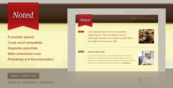 Noted Email Newsletter Template