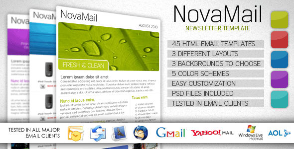 NovaMail Newsletter Template EmailTemplates Email Template