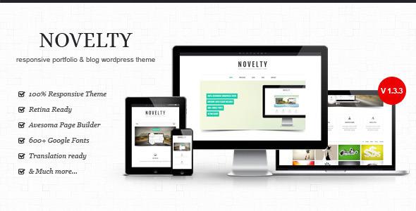 Novelty - Retina Ready Responsive Wordpress  Theme Creative