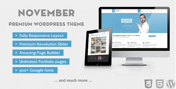November - Clean & Modern Wordpress Theme Corporate
