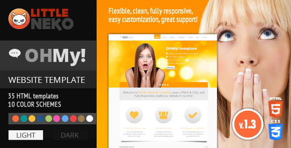 OHMY! HTML5, CSS3, Bootstrap website template Corporate