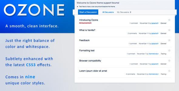 OZONE - Premium Vanilla 2 Theme Forums Vanilla
