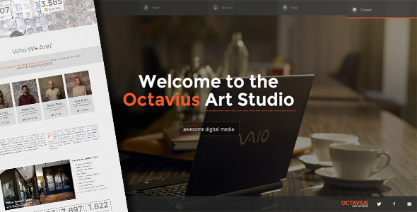 Octavius - Responsive One Page Template Creative