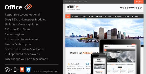 Office Responsive Business Theme WordPress Corporate